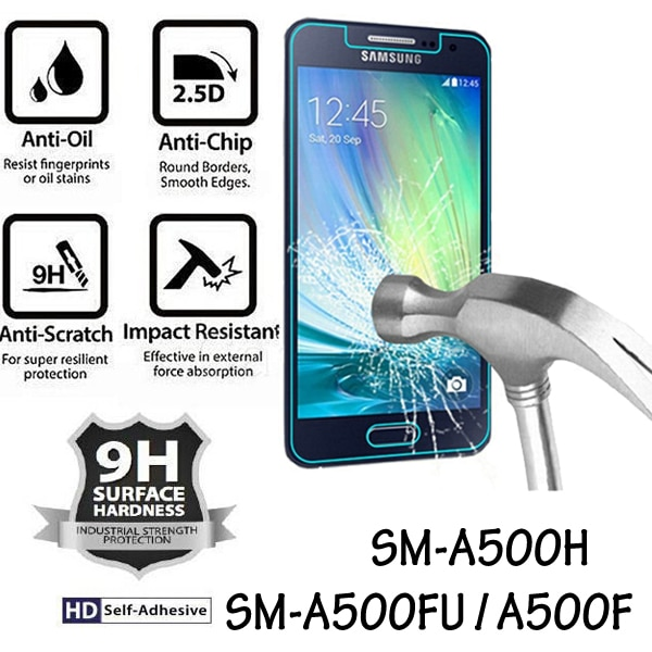 SM-A500FU SM-A500F SM-A500H Protective Glass Tempered Glass Film for Samsung Galaxy A5 2015 Screen Protector for Samsung A5 2015