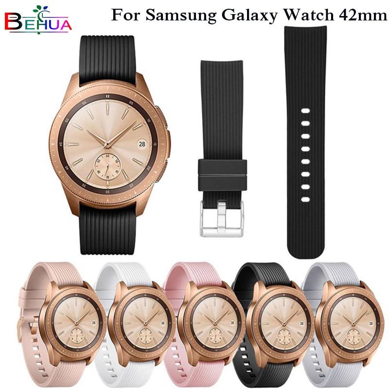 20mm Sports Silicone Band For Samsung Galaxy Watch SM-R810 42MM & Gear 2 Sport Strap For Huami Amazfit Bip/Amazfit 2 Smart Watch часы samsung galaxy watch 42mm sm r810 глубокий черный