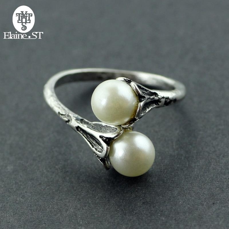 Anillos de perlas anillos de Juego de tronos para mujeres Daenerys Targaryen joyería de perlas simuladas anillo femenino Vintage ajustable