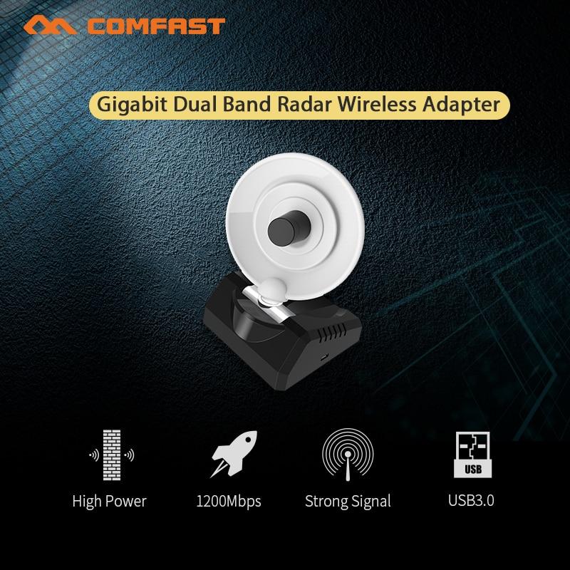 Comfast 1200M Gigabit de alta potencia de banda Dual 3,0 Adaptador inalámbrico...