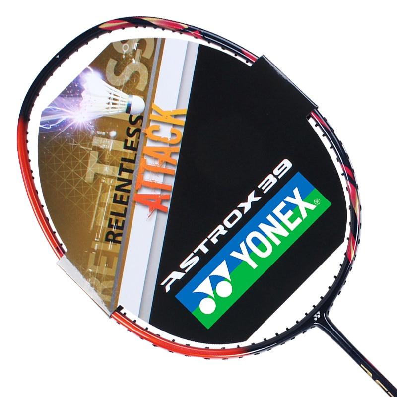Raqueta de Bádminton de fibra de carbono Nano Original Yonex ASTORX 38D 39D