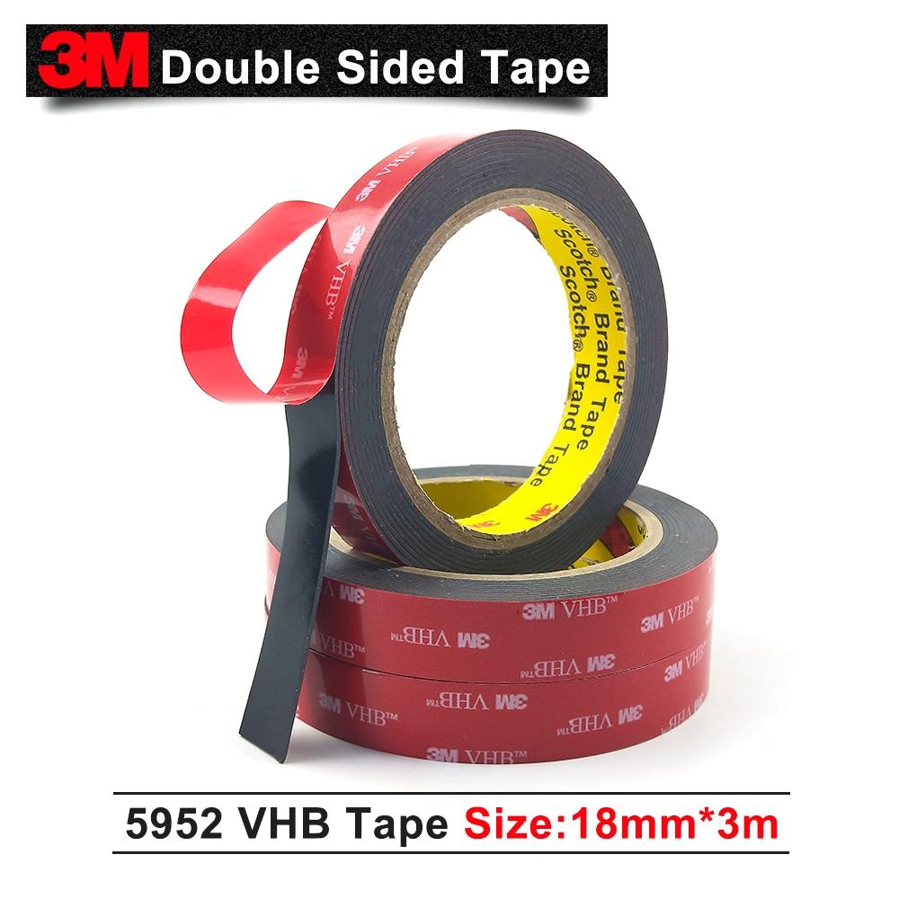 3 mt Acryl Nail Band 5952, Schaum Kleber 3 mt 5952 VHB Klebeband acryl klebstoff kleber, 18mm * 3 mt/1 Rollen/Lot