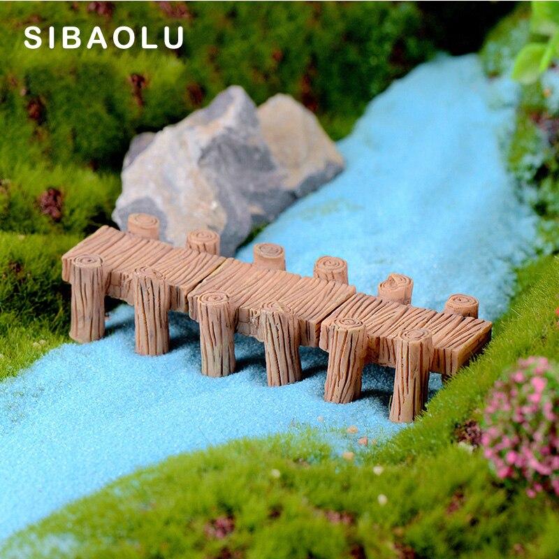 Symulacja drewniane korytarz na wodzie miniaturowe figurki DIY żywica akcesoria dla lalek lalka budynek dekoracja domu dom zabaw zabawki