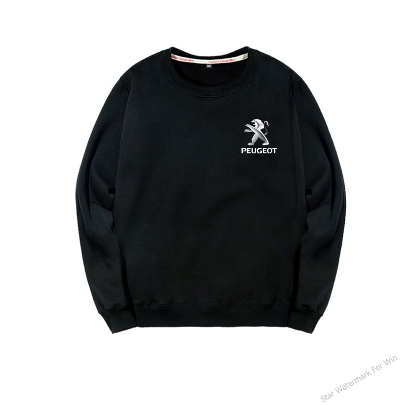 Otoño e invierno, sudadera Peugeot para hombre, mono de cuello redondo, ropa estampada con logo de grupo personalizado