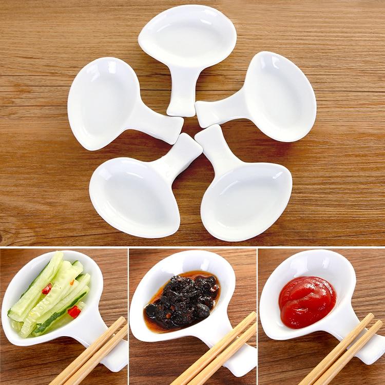 Japan Style Ceramic Dish Plates Chopstick Rest Spoon Holder Frame Seasoning Sauce Dish Salad Plates Art Craft Kitchen Tools