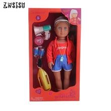 Gratis Verzending Door E-pakket Realistische (De Pop) 11 Stks/set 18 Inch Amerikaanse Pop & 43 Cm Born Pop Voor Generatie Speelgoed Gift