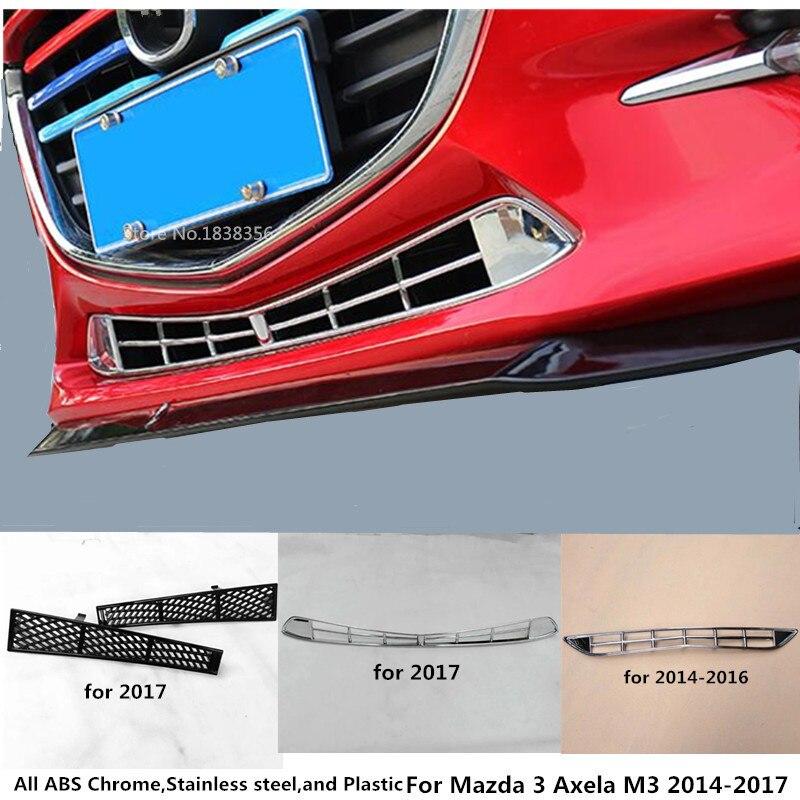 Für Mazda 3 Axela M3 2014 2015 2016 2017 2018 2019 Auto Abdeckung Stick ABS Chrome Trim Vorne Unten Racing grid Grill Grille Rahmen