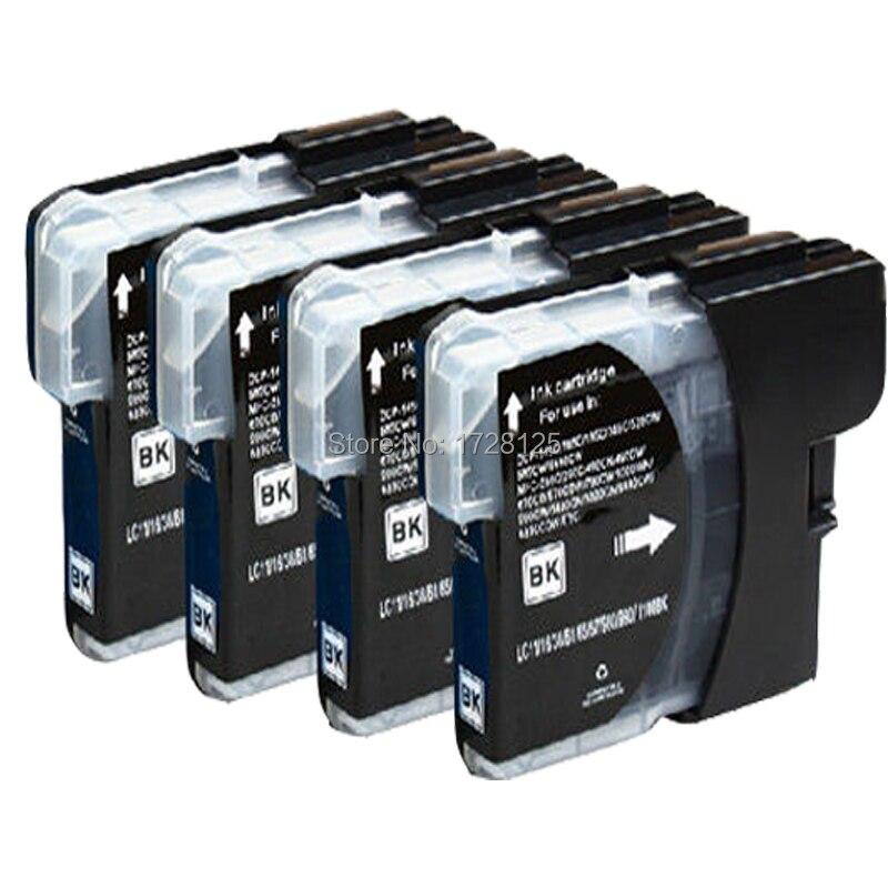 4 negro LC-980BK LC-1100BK XL cartucho de tinta Compatible para brother DCP-145C DCP-165C MFC-250C MFC-295CN impresora de inyección de tinta