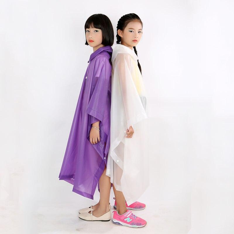 Waterproof Kids Rainwear Non-Disposable Rain Poncho Travel Rain Gear Coat Child Raincoat 1 PC Outdoor Hiking Accessories