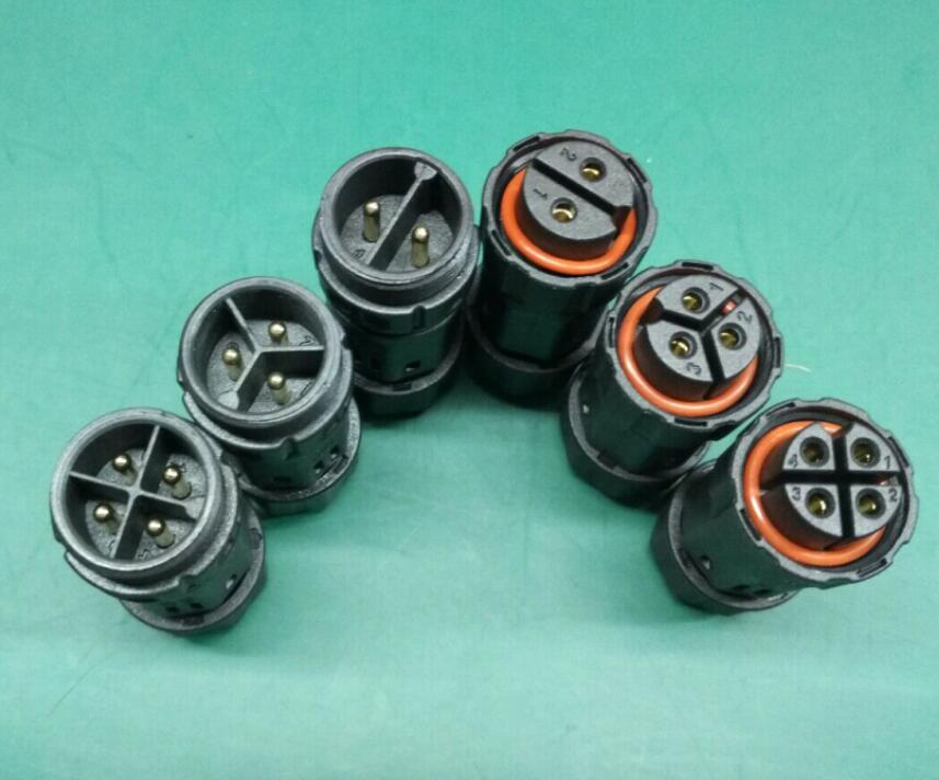 موصلات الكابلات الكهربائية M19 -4 Pin 250V 20A IP68 ، ذكر وأنثى ، 10mmsq ، أطراف الكابلات