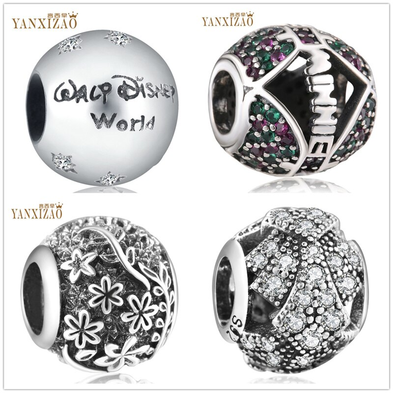Cuentas Diy de flores hechas a mano yixizao World Jewelry, pulseras Pandora, abalorios de plata 925 Original Berloque