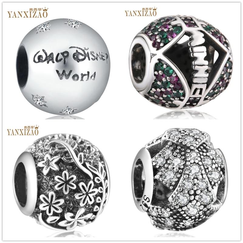 Yanxizao mundo jóias fazendo flores artesanais diy contas caber pulseira pandora pulseira encantos prata 925 original berloque