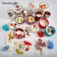 Bougie de thé décorative pétale de fleur   Bricolage, cire de soja, pur naturel, aménagement naturel, matière première, qualité alimentaire 5G pour verre, thé,