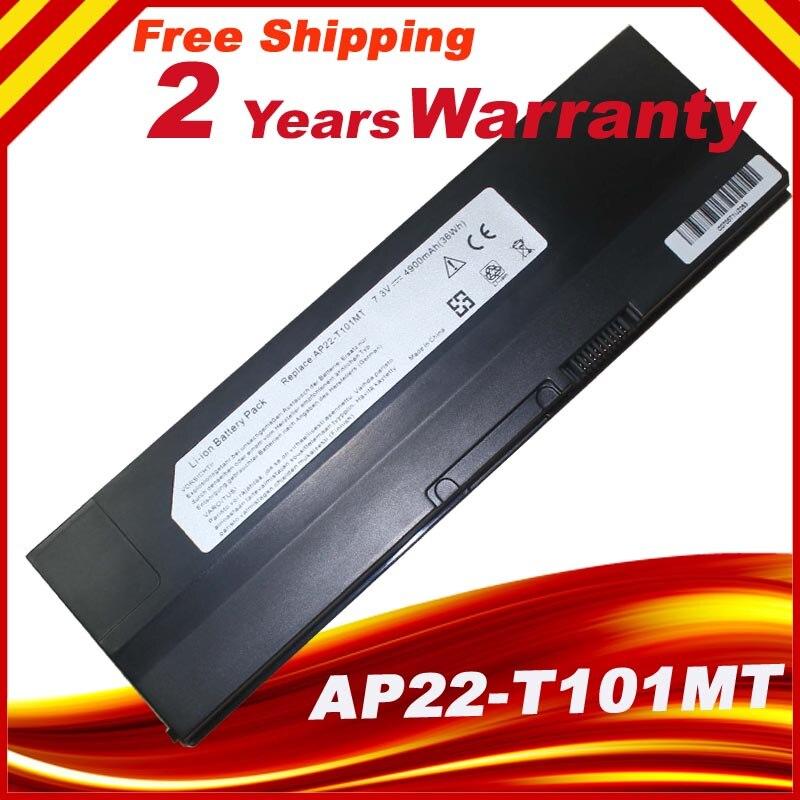 Nova bateria do portátil da substituição de 7.3 v 4900mah para asus eee pc t101 t101mt AP22-T101MT 90-0a1q2b1000q 90-oa1q2b1000q frete grátis