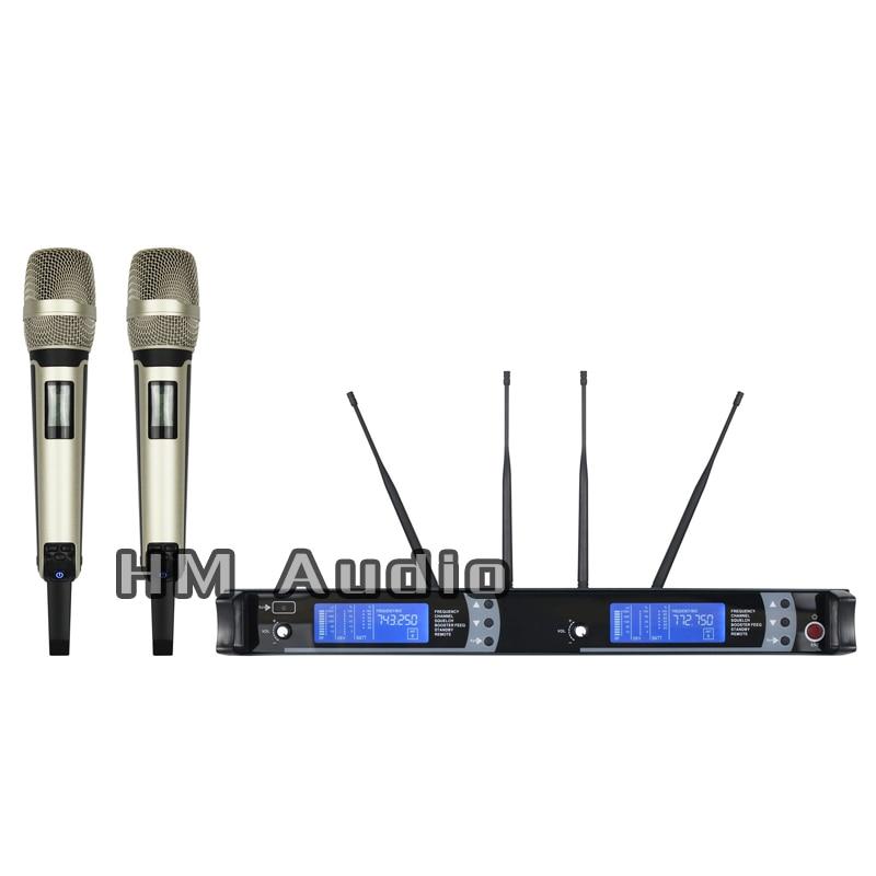Nouveau haute qualité professionnel SKM9000 vraie diversité portable sans fil Microphone professionnel lavalier pince microphone casque