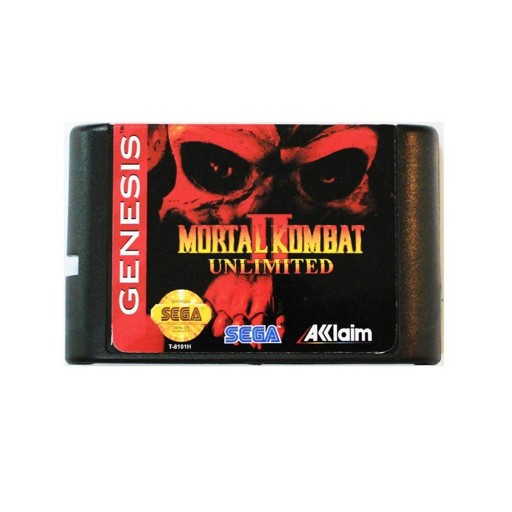 Mortal Kombat 2 Unlimited 16 bit tarjeta de juego MD para Sega Mega Drive para SEGA Génesis