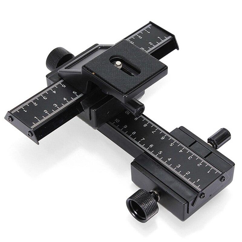 Extensión de 4 vías Macro Shot Focus Rail Slider con conjunto de placa de liberación rápida