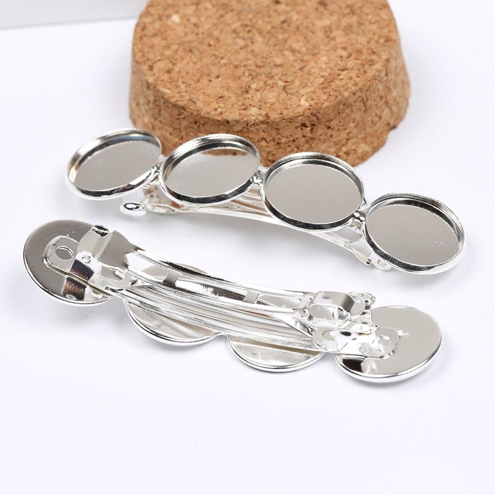 Основа заколки для волос reidgaller, 10 шт., подходит для 16 мм, основа заколки для волос с серебряным покрытием
