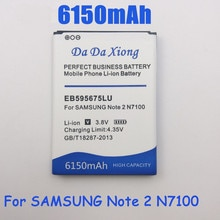 6150mAh EB595675LU bateria do samsunga Galaxy Note 2 N7100 E250 LTE N7105 N7102 T889 L900 Verizon i605