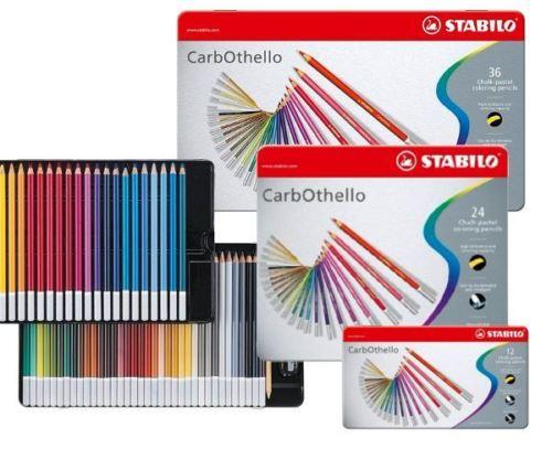 Stabilo CarbOthello artista tiza Pastel colorantes lápices de 4,4mm de diámetro-12/24/36/48/60 colores de Set de fundas