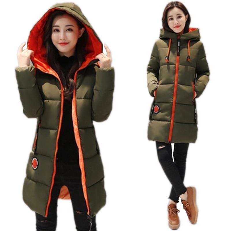 2019 Neue Winter Jacke Frauen Parka Mantel Lange Unten Student Jacke Plus Größe Lange Mode Mit Kapuze Ente Unten Mantel Jacke weibliche N693