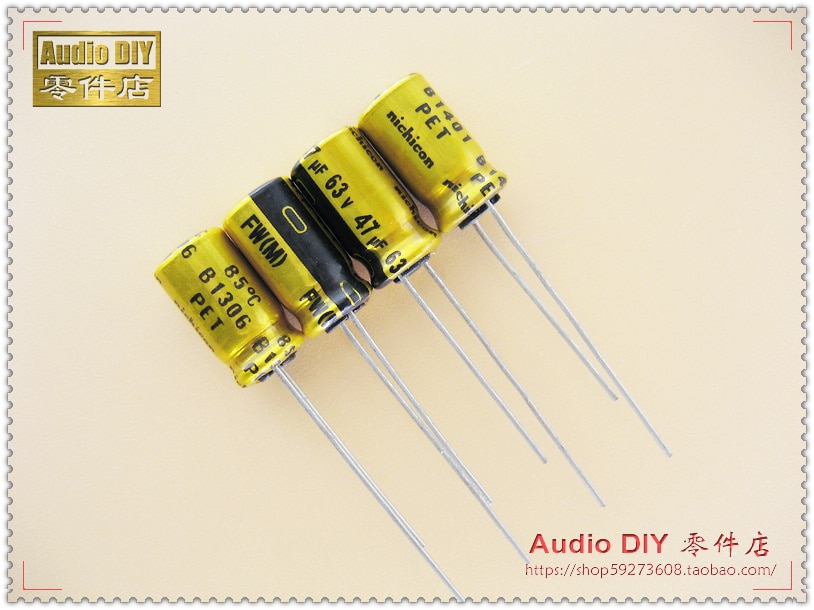 2020 hot sale 30PCS/50PCS Nichicon FW Series Electrolytic Capacitors for 47uF/63V Audio free shipping