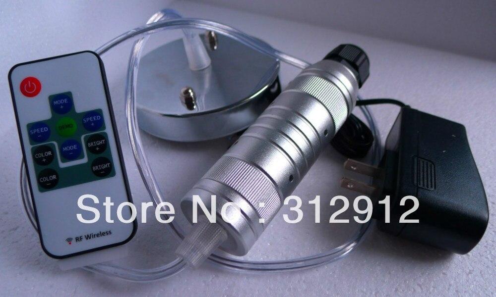 7 w 10key rf led motor de luz de fibra optica sob o teto usado para lustre