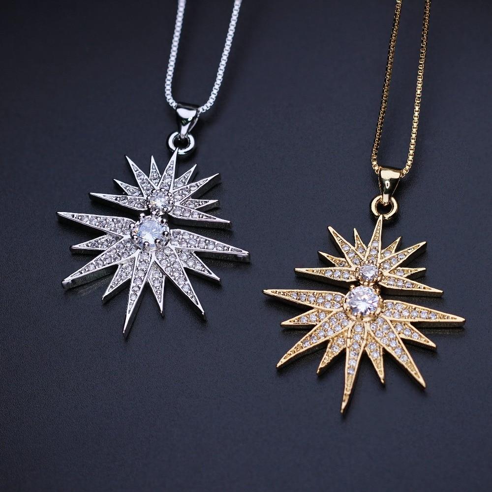 Newranos North Star Necklace Cubic Zirconias Charm Star Pendants Custom Jewelry for 2020 Women Fashion Jewelry NJD002232