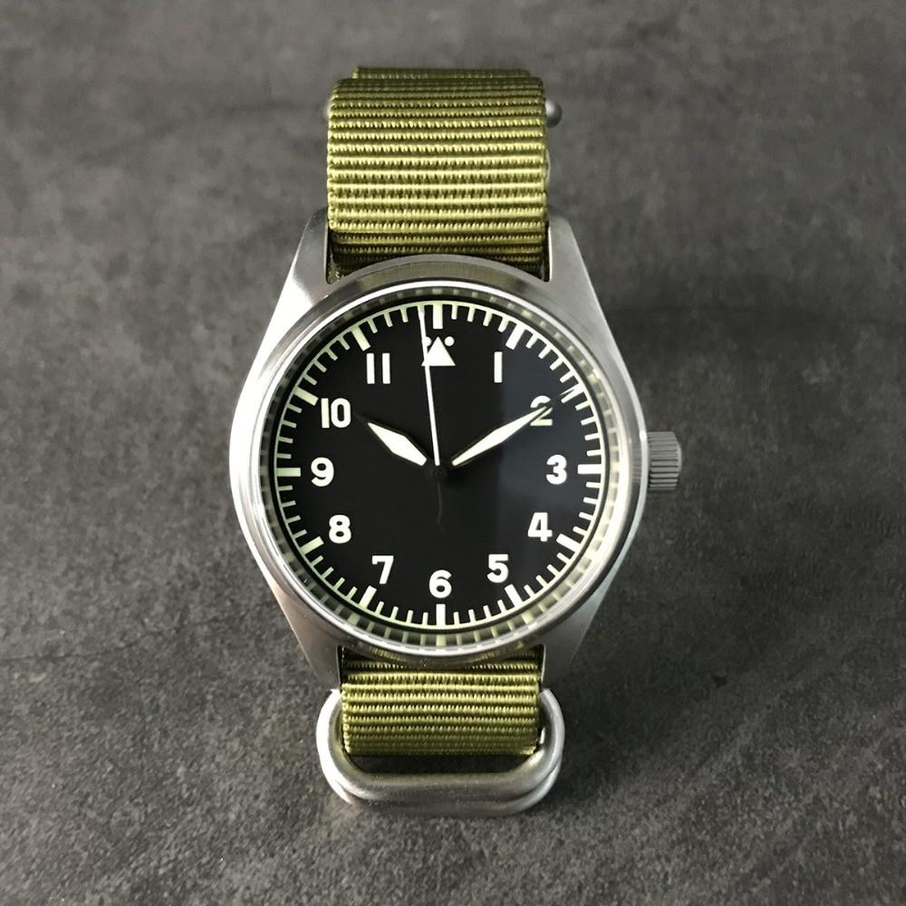 San Martin moda mujer hombre piloto reloj acero inoxidable 200m resistente al agua movimiento automático reloj de pulsera zafiro 39mm