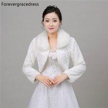 Forevergracedress 2018 New Women Winter Faux Fur Wedding Wrap Bolero Jackets Bridal Coat Cape Cloak Shawls Scarves In Stock