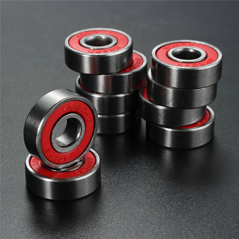 Профессиональные колеса для скейтборда ABEC 7 608RS, запасные подшипники, шариковый ролик, высокоточные валы, 10 шт.