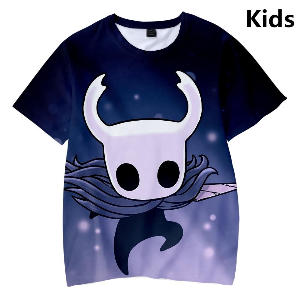 Camiseta de 3 a 14 años para niños, ropa de caballero hueco, camiseta 3d para niños y niñas, camiseta de manga corta, camisetas Harajuku, ropa