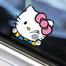 19 cm * 17 cm 재미 있은 귀여운 사랑스러운 만화 kt 자동차 스티커 크리 에이 티브 장식 decals for windshield auto styling tuning d10