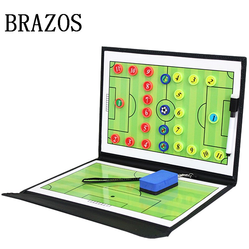 Updated Foldable Tactic Soccer Board Magnetic Football Board Football Training Soccer Coach Coaching Tactical Clipboard Futbol недорого