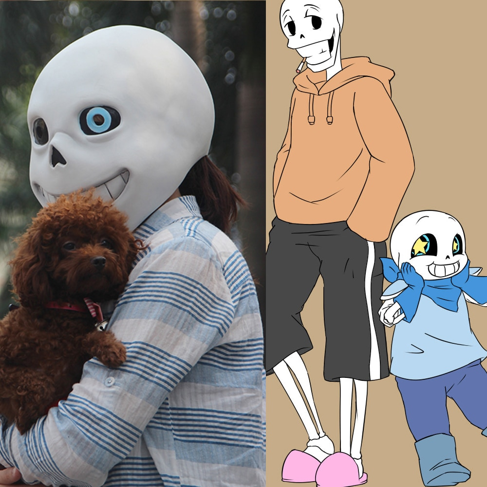 Hot Game Undertale Mask Cosplay Sans Papyrus helmet Full Head Masks Halloween Prop