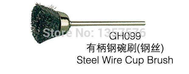 Envío Gratis 50 Uds. Copa de alambre de acero dental fg2.35 mm, metal dorado plateado grabado de diamantes pulido cepillo de copa rotativa