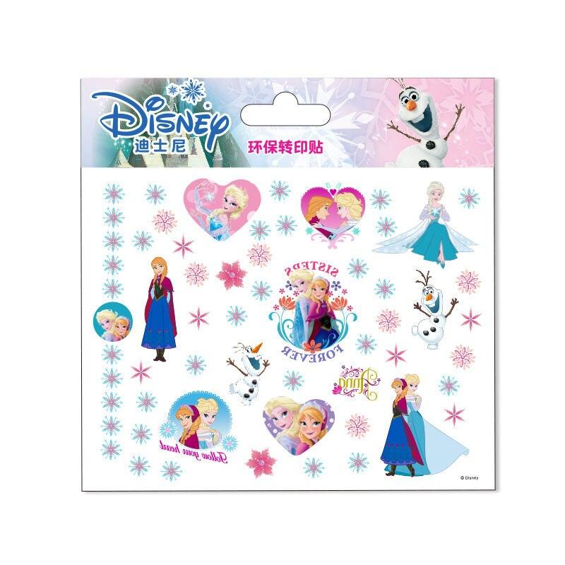 Adesivos de tatuagem disney, adesivos de desenho animado, adesivos de princesa elsa & anna personalizados, à prova dágua, relógio frozen