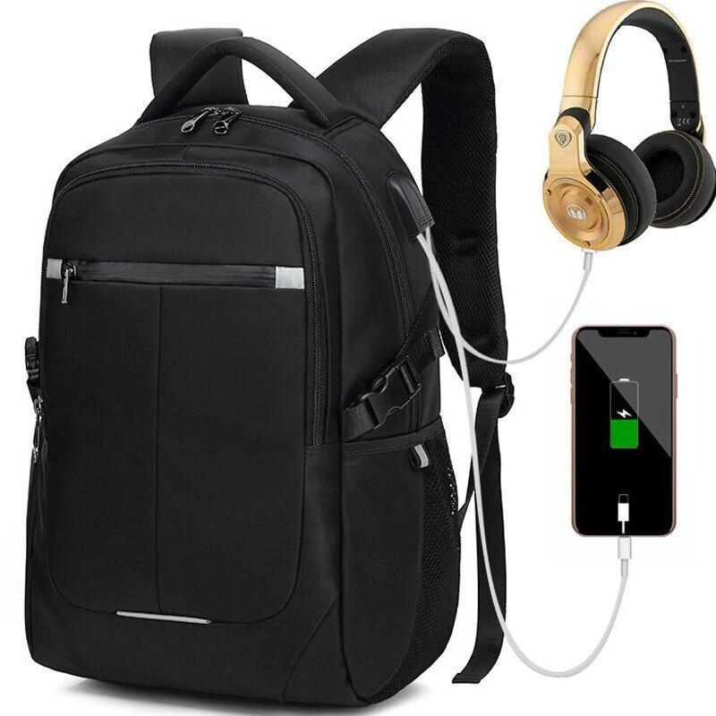 Trabalho de Escritório Homens de Negócios Laptop de 15.6 Homens Mochila Polegada Bolsa Unisex Ultraleve Preta Fina Back Pack X2-35