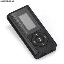 AIKEGLOBAL Hifi Mini USB MP3 Music Media Player LCD Screen Support 16GB Micro SD TF Card  Car Mp3 Player Drop Shipping