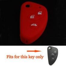 Coque de porte-clé en Silicone BBQ @ FUKA   Rouge/bleu, rabattable, pour Alfa Romeo 147 156 GT JTD TS