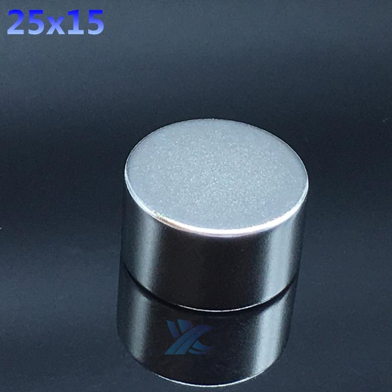 2 uds. Imanes de neodimio NdFeB redondos pequeños de 25x15mm N35 imán fuerte súper potente de 25x15mm imán de tierras raras