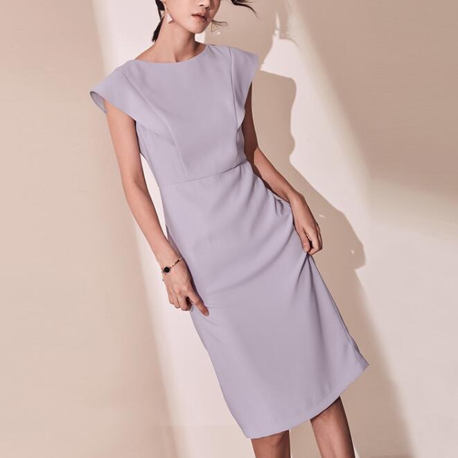 2020 New Fashion Elegant Women Slim Bodycon Ruffle Sleeve Party Midi Pencil Dress Office Lady Work Wear Formal Business Vestidos