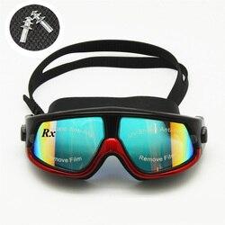 Очки для плавания Rx, плавательные очки для дальнозоркости, Оптические плавательные очки для близорукости, коррекционная маска для плавания, бесплатные берцы для ушей и футляр для хранения