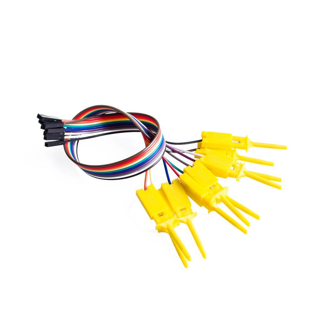 ¿10 Uds clip de gancho de prueba? Test lógico analizador Carpeta para USB Saleae 24M 8CH