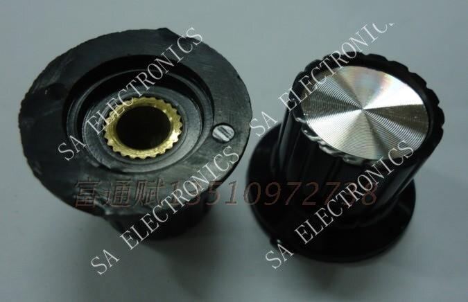 [BELLA] الباكليت الباكليت مقبض الجهد مقبض غطاء الألومنيوم KYP25-18-6J الجانب قفل المسمار-100 قطعة/الوحدة