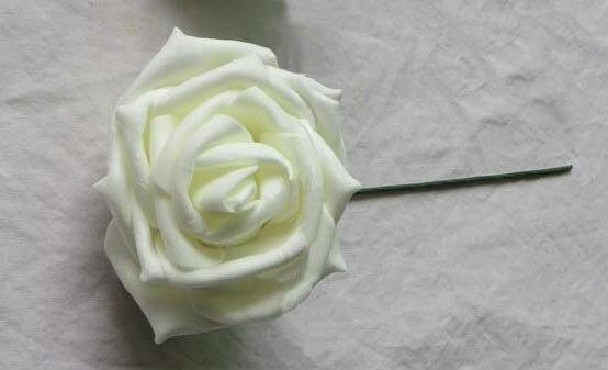 Rosas artificiales de espuma eva hechas a mano de 6 CM, arreglos artesanales diy ramo de novia y bola de flores y ramos de juguetes y decoración del coche