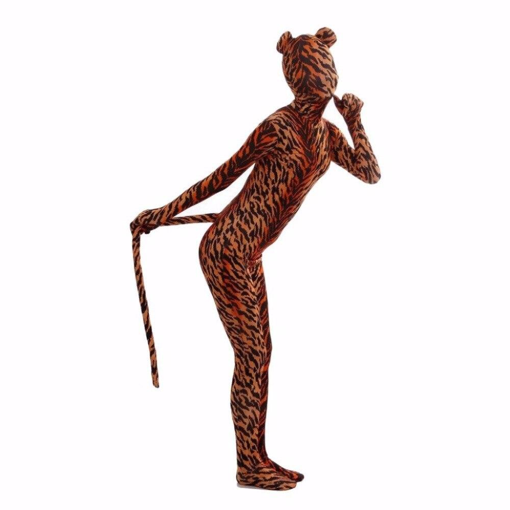 Mono completo Zentai de animales con orejas y cola, Zentai, Zentai, Zebra, Lycra, bodys de LICRA para disfraz de Halloween para mujer
