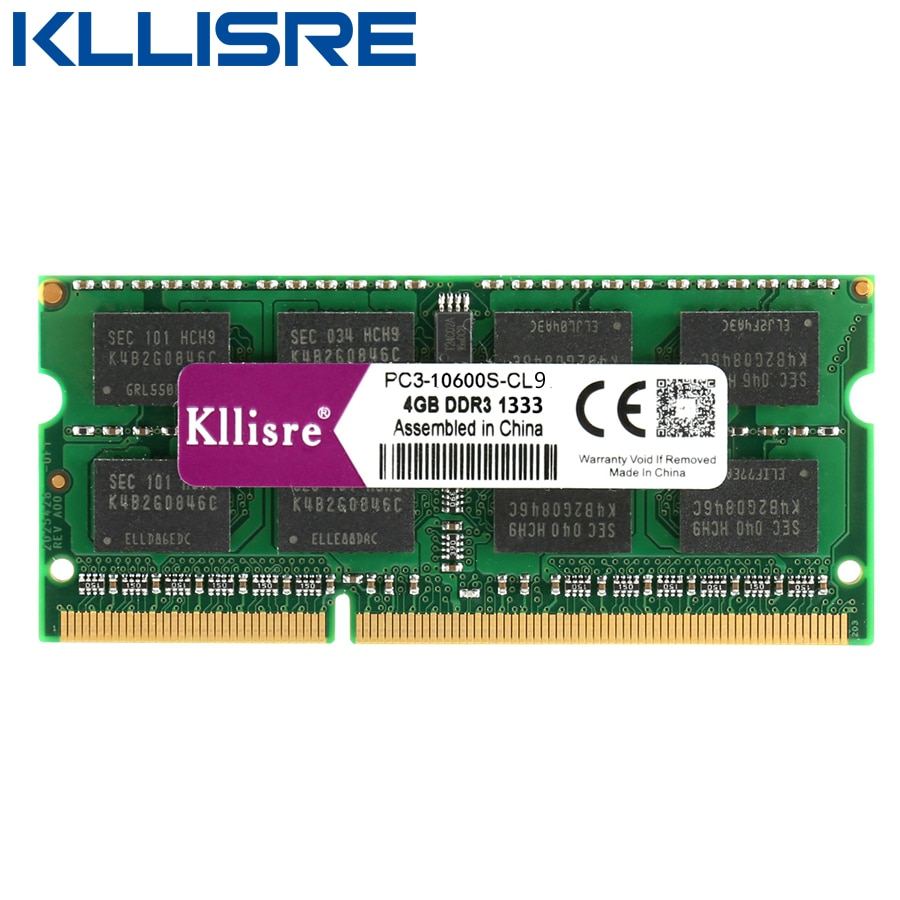 Kllisre DDR3L DDR3 laptop ram 4GB 8GB 1333 1600 1.35V 1.5V Notebook Memory sodimm