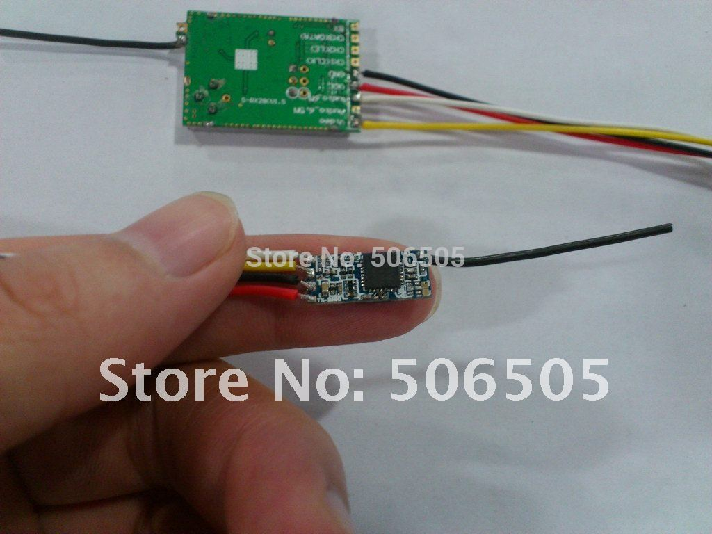 100mw 2.4Ghz audio and video wireless transmitter with receiver mudole enlarge