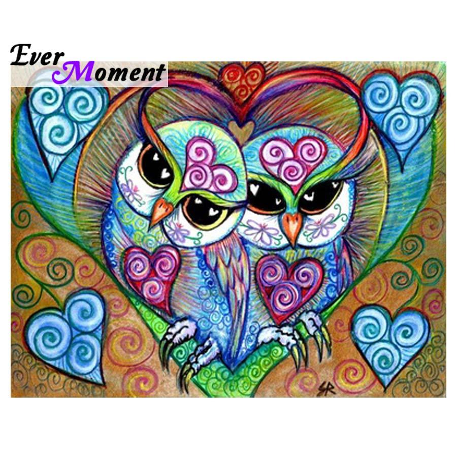 5d diy pintura diamante coruja crianças diamante bordado coruja animal dos desenhos animados diamante mosaico imagem pintura da parede presente asf703